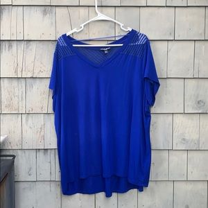 Cable &Gauge 1x woman royal blue shirt EUC
